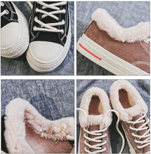 Load image into Gallery viewer, Womens Casual Canvas Platform Snow Sneakers Boots
