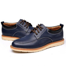 Load image into Gallery viewer, Men British Style Low Top Breathable Flat Lace Up Casual Shoes
