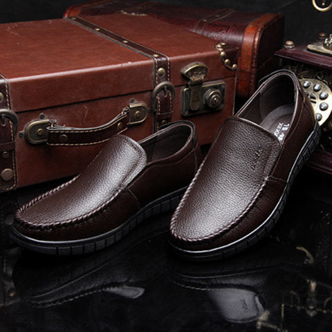 Men PU Leather Flat Heel Daily Shoes