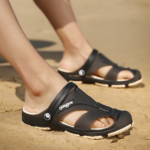 Slip on Beach Slip resistant Flat Heel Daily Sandals for Men