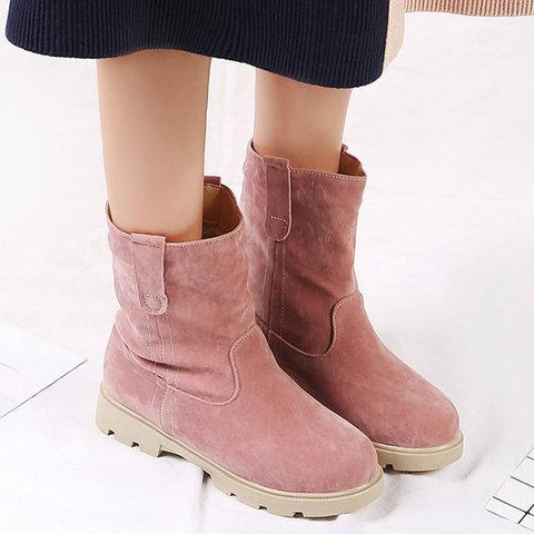 Womens Larger Size Simple Winter Snow Boots