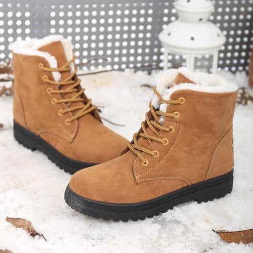 Warm Fluff Winter Women Ankle Boots