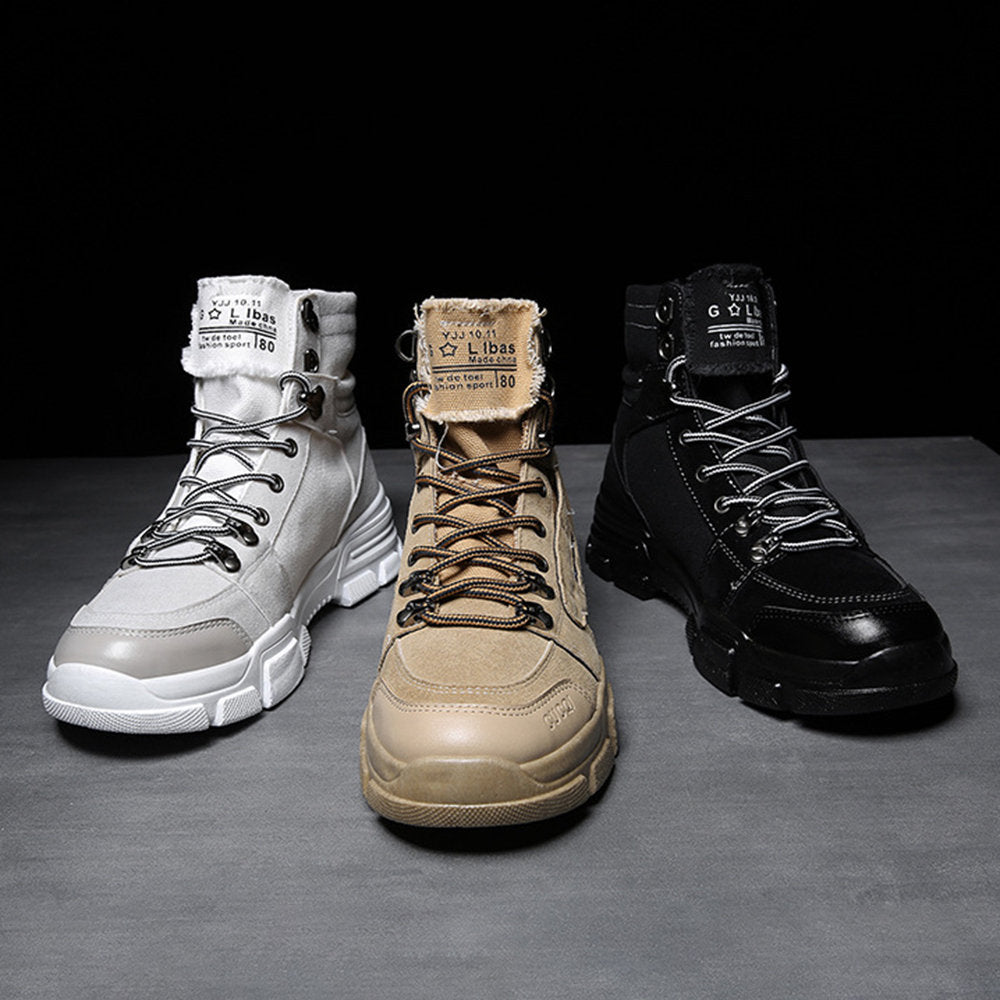Men Suede Slip Resistant High Top Sport Casual Boots