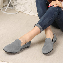 Load image into Gallery viewer, Slip on Comfortable Flat Loafers Simple Pure Color Artificial Suede Round Toe