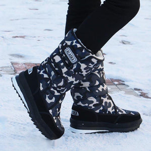 Larger Size Warm Flat Heel Oxford Winter Snow Boots