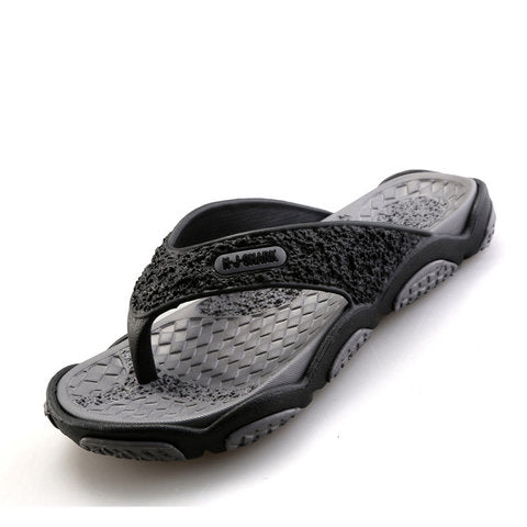 Non-slip Plastic Flat Heel Casual Men's Sandals
