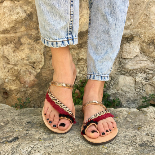 Bohemian Style Slipper Spring Summer Beach Flat Sandals