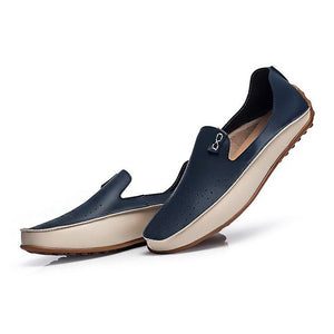 Large Size Men Color Blocking Slip Ons Flat Soft Casual Driving Loafers
