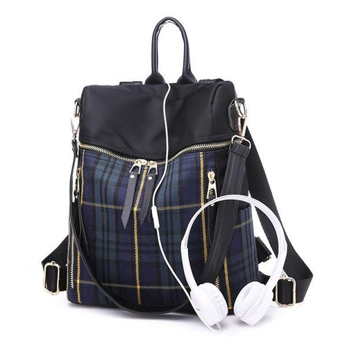 Nylon Waterproof Travel Backpack Multi-function Shoulder Bag