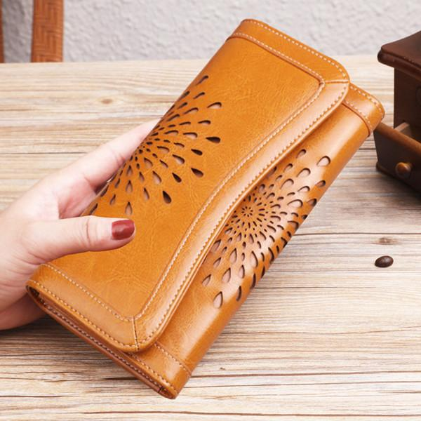 Multi-slots Wallet Hollow Out Purse Card Holder