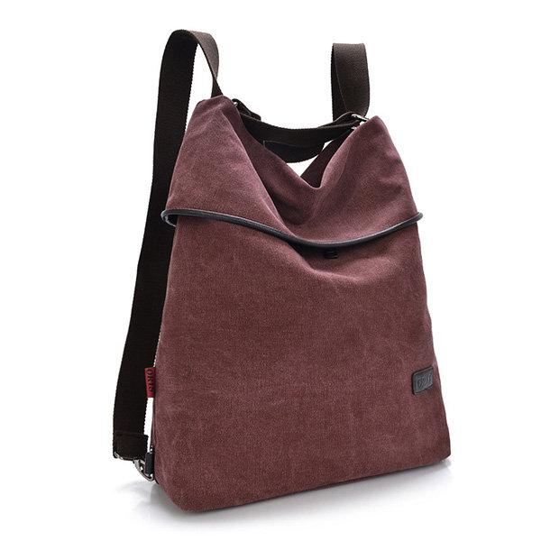 Casual Canvas Shoulder Bag Crossbody Bag Outdoor Backpack