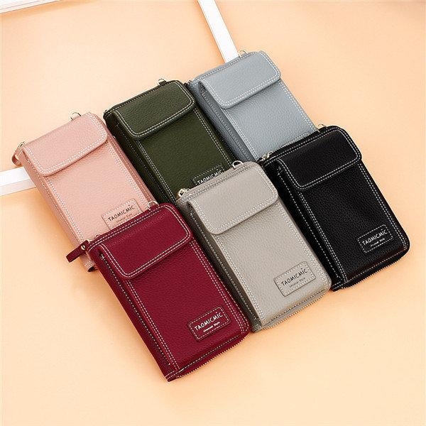 TAOMICMIC Faux leather Clutch Bag 4 Card Slot Bag Crossbody Bag