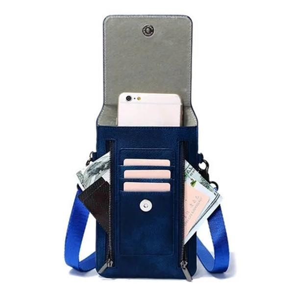 Retro  Card Holder 6 Inch Phone Purse Crossbody Bag