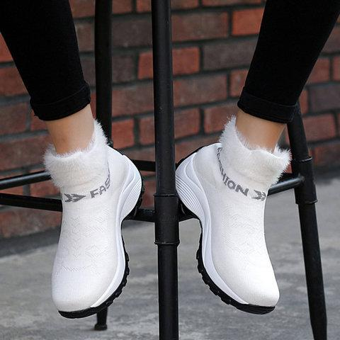 Women's Boots Round Toe Athletic Platform Sneakers Boots