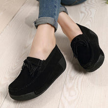 Load image into Gallery viewer, Platform Women Suede Lace-up Sneakers Boots