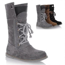 Load image into Gallery viewer, Low Heel Lace-up Artificial Nubuck Women Boots