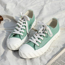 Load image into Gallery viewer, Candy Color Canvas Flats Lace-up Sneaker Loafers