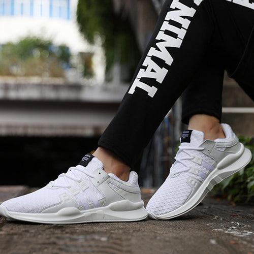 14a9ac9e467 Men Mesh Fabric Breathable Lightweight Lace Up Casual Running Sneakers