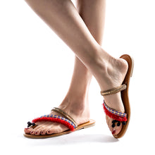 Load image into Gallery viewer, Bohemian Style Slipper Spring Summer Beach Flat Sandals