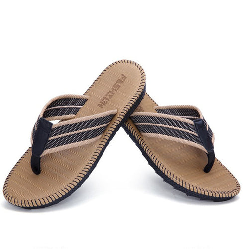 Men Linen Light Weight Soft Webbing Flip Flops