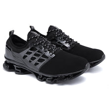Load image into Gallery viewer, Large Size Men Textile Breathable Comfy LaceUp Sport Running Sneakers