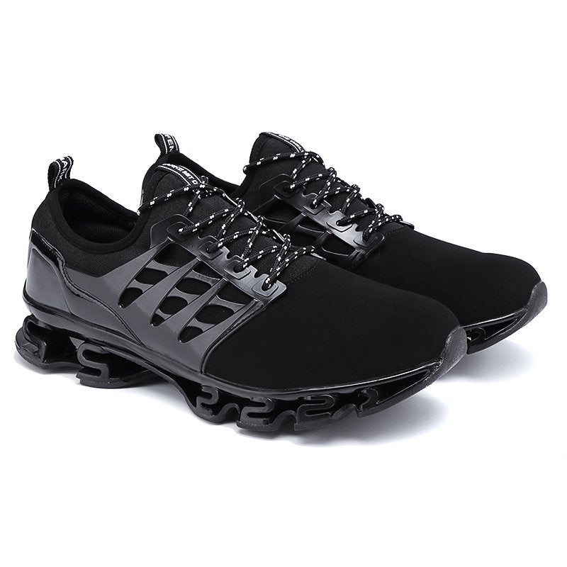 Large Size Men Textile Breathable Comfy LaceUp Sport Running Sneakers