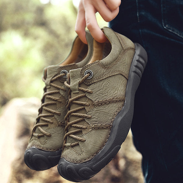 Men Cow Leather Anti collision Wear resistant Outdoor Casual Shoes
