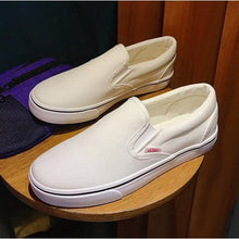 Load image into Gallery viewer, Big Size Round Toe  Loafers Flats Women Casual Slip on Flat Canvas Shoes