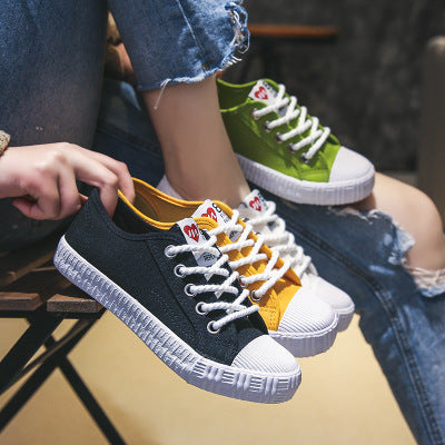 Womens Skateboard Leisure Lace Up Comfortable Casual Canvas Sneakers