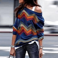 Load image into Gallery viewer, Vintage One Shoulder Long Sleeve Cotton T-Shirts