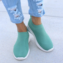 Load image into Gallery viewer, Breathable Jackeline Slip On Sneakers Fly-knit Fabric Athletic Sneakers