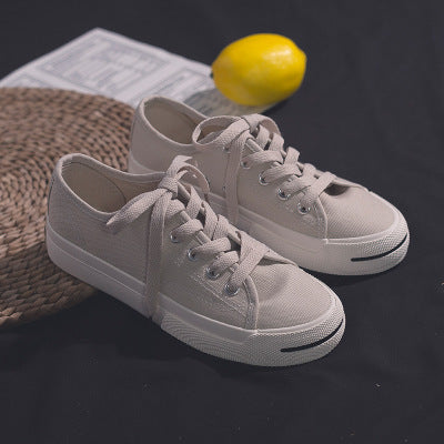 Womens Casual Round Toe Lace-up Flats Jack Purcell Spirng Summer Canvas Shoes