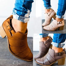 Load image into Gallery viewer, Women Classic Ankle Adjustable Buckle Booties Casual Comfort Boots
