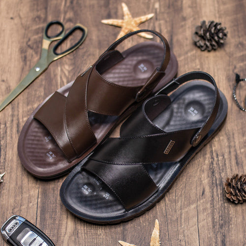 Men  Pure Color Non-slip Casual Beach Sandals