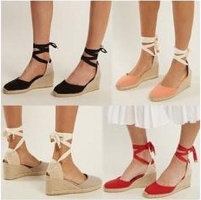 Summer Ankle Strap Espadrilles Wedge Platform Sandals