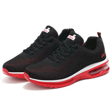 Load image into Gallery viewer, Men Knitted Fabric Shock Absorption Lace Up Casual Sneakers