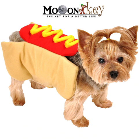 Halloween hot dog mask for Dogs