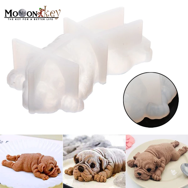 3D Puppy Molds cake