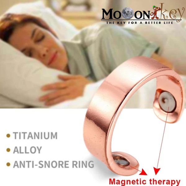 Anti-Snore Alloy Magnetic Therapy Ring