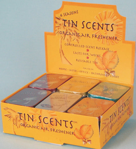 4 SEASONS - TIN SCENTS - ORGANIC AIR FRESHENER - 18CT/DISPLAY
