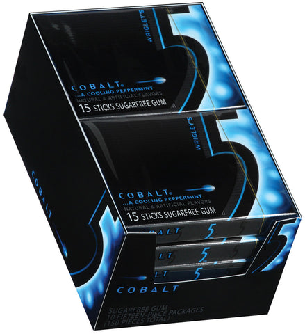 WRIGLEY'S 5 GUM - COBALT (PEPPERMINT) - 12CT/BOX