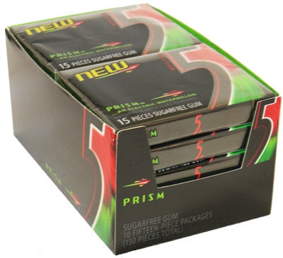 WRIGLEY'S 5 GUM - PRISM (WATERMELON) - 12CT/BOX