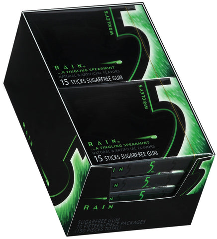 WRIGLEY'S 5 GUM - RAIN (SPEARMINT) - 12CT/BOX