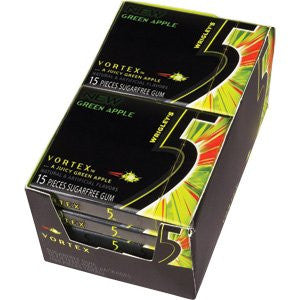 WRIGLEY'S 5 GUM - VORTEX (GREEN APPLE) - 12CT/BOX