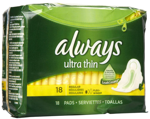 ALWAYS - ULTRA THIN W/WINGS 18'S - 12CT/UNIT