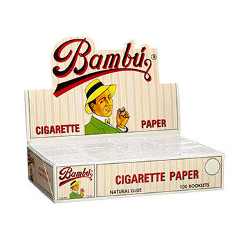BAMBU - SMALL CIGARETTE PAPER - 100CT/DISPLAY