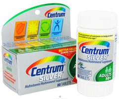 CENTRUM - SILVER MULTIVITAMIN TABS 80CT
