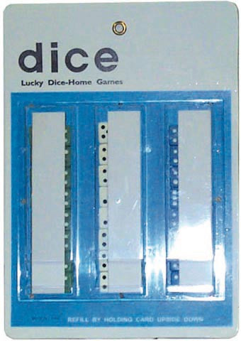 DICE - CLEAR (RED/GREEN) - 48CT/BOX