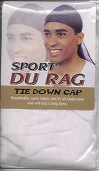 DURAG - WHITE COLOR - 12CT/PACK