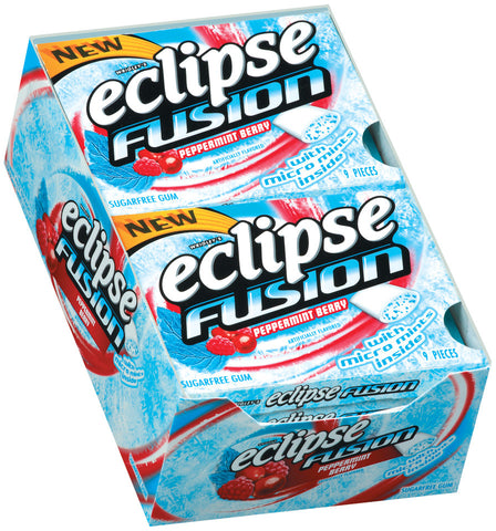 ECLIPSE - FUSION (PEPPERMINT BERRY) GUM - 10CT/BOX